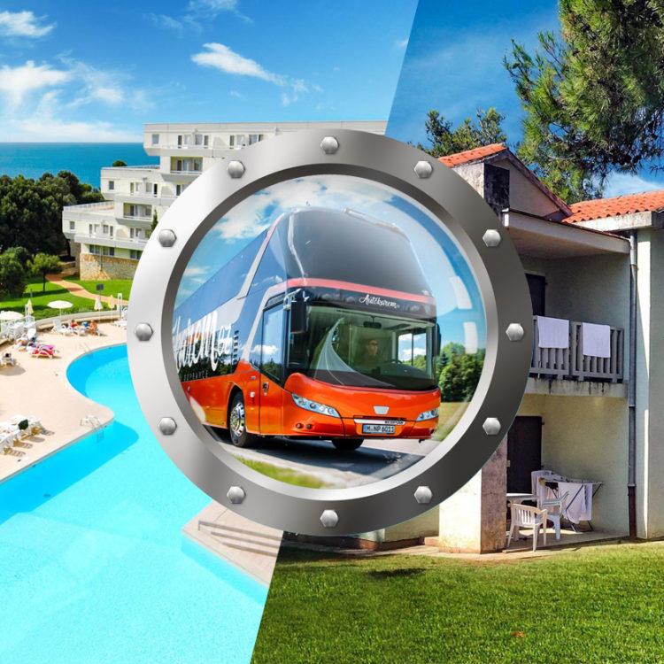 Skrátená dovolenka na Istrii v hoteli s bazénom a dopravou v cene