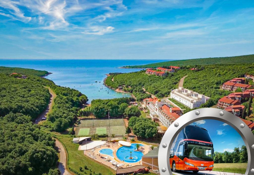 Skrátená dovolenka na Istrii v hoteli Duga Uvala s bazénom a dopravou v cene
